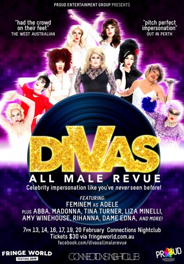 "FRINGE WORLD: DIVAS ""All Male Revue"""